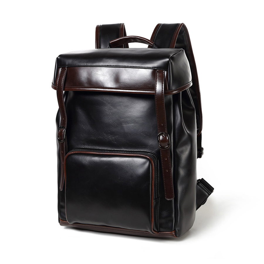 Aliexpress.com : Buy casual leather backpack bag men business ...