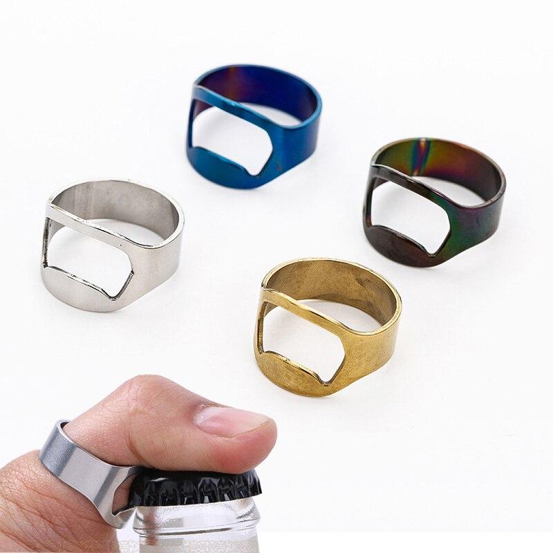 1pc Multi-function Stainless Steel Colorful Ring-Shape Opener Beer Bottle Opener Diameter 22mm