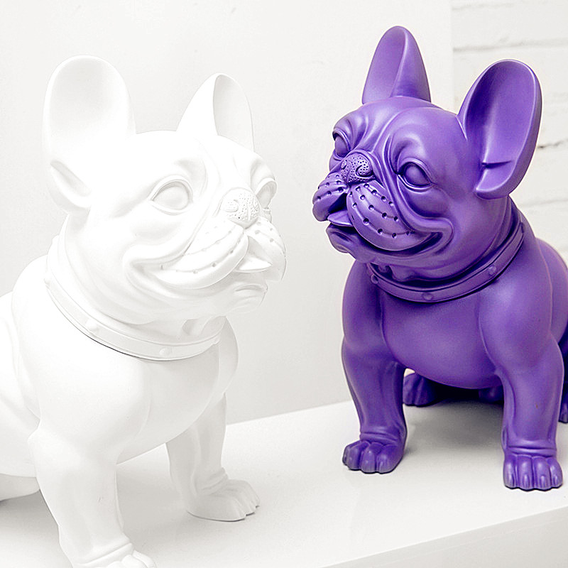 Simulation Painting Bulldog Colophony Crafts Statue Show Window Decoration Gift Purely Manual, Living Room European Style L2765Simulation Painting Bulldog Colophony Crafts Statue Show Window Decoration Gift Purely Manual, Living Room European Style L2765