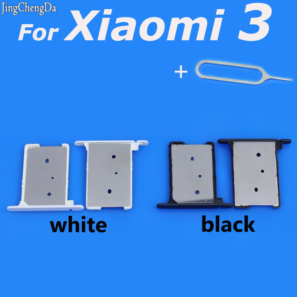 JCD white/black SIM Card Holder Slot Tray Replacement for Xiaomi 3 MI3 Mi 3 Adapter Tool Repair Part Accessories
