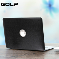 Cover Case For MacBook Air 13 GOLP Durable Luxury Silk Pattern Grain PU Leather Cover PC
