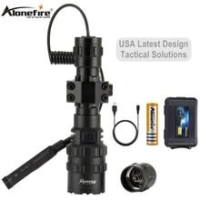 AloneFire G100 5000лм XM-L2 светодиодный оружейный светильник белый тактический охотничий флэш-светильник прицел страйкбол крепление дистанционный переключатель 18650