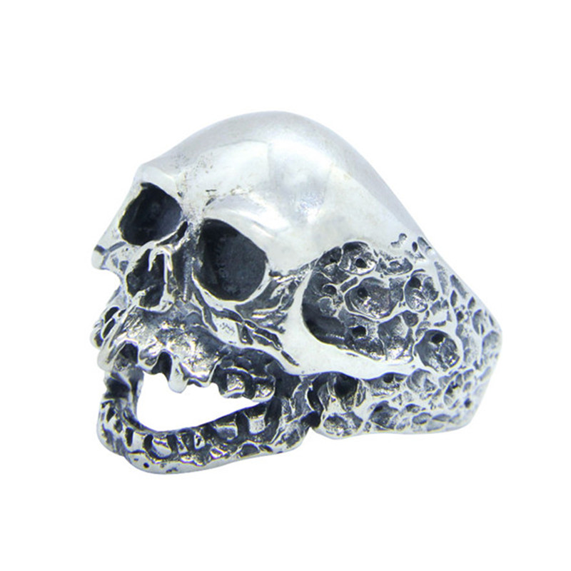 Free Shipping Size 7-15 Men Boys 925 Sterling Silver Dead Skull Ring Jewelry Newest S925 Fashion Biker Skull Ring man s925 sterling silver jewelry silver jewelry jewelry red corundum skull ring new free shipping