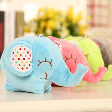 hot deal buy 8/12cm stuffed plush animals toy kawaii colorful elephant sucker chain car/room/window decoration pendant toy plush kids
