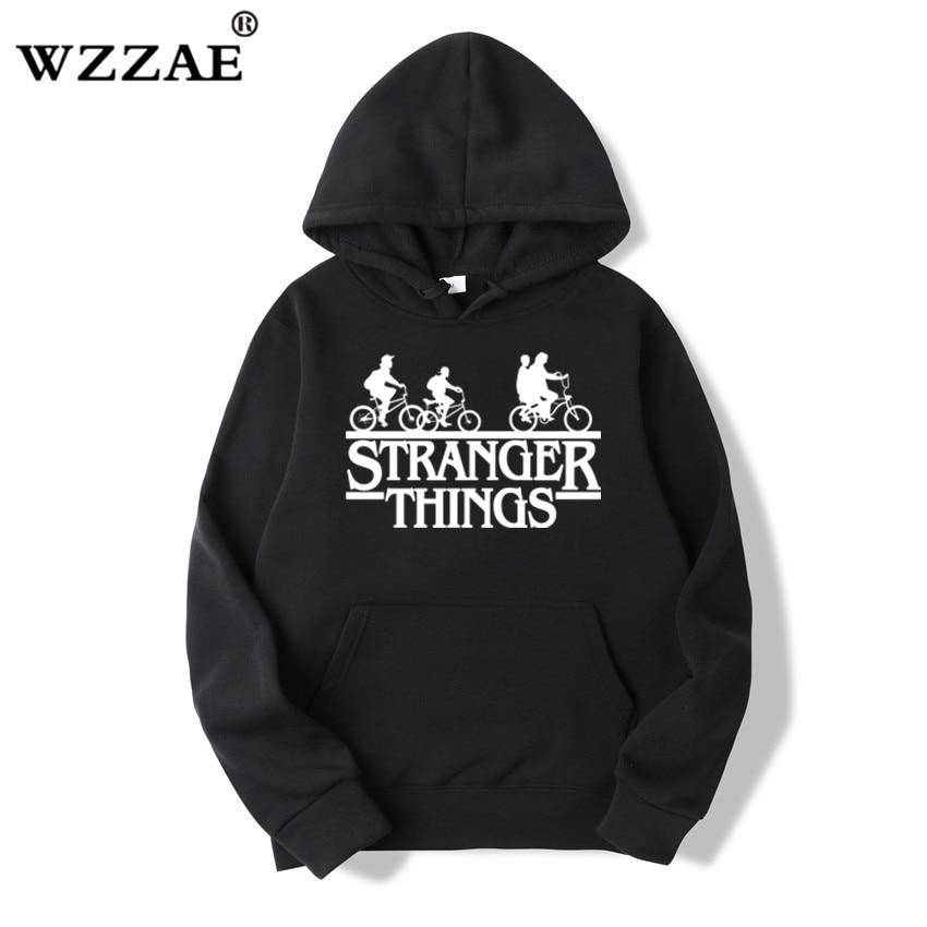 Trendy Faces Stranger Things Hooded Hoodies and Sweatshirts 1