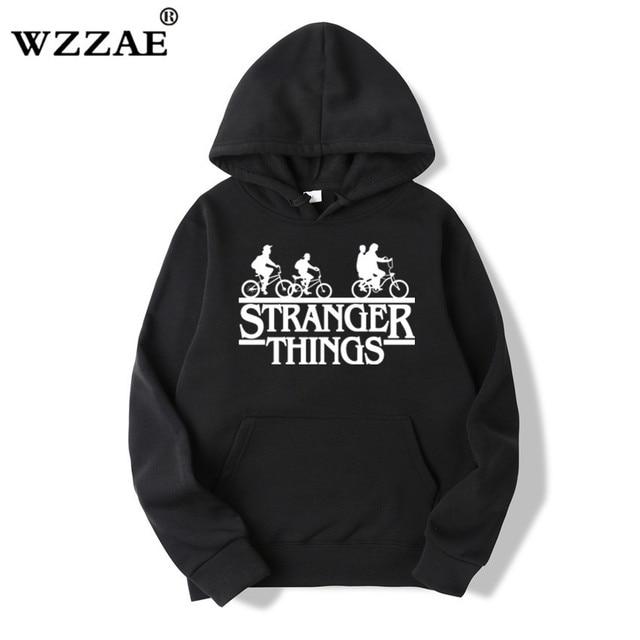 Trendy Faces Stranger Things Hooded Hoodies and Sweatshirts 59
