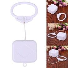 1 adet plastik çekme dize Clockwork kablosu müzik kutusu çekme halkası müzik kutusu beyaz ABS bebek çocuk yatak çan çıngıraklı oyuncak doğum günü hediyesi
