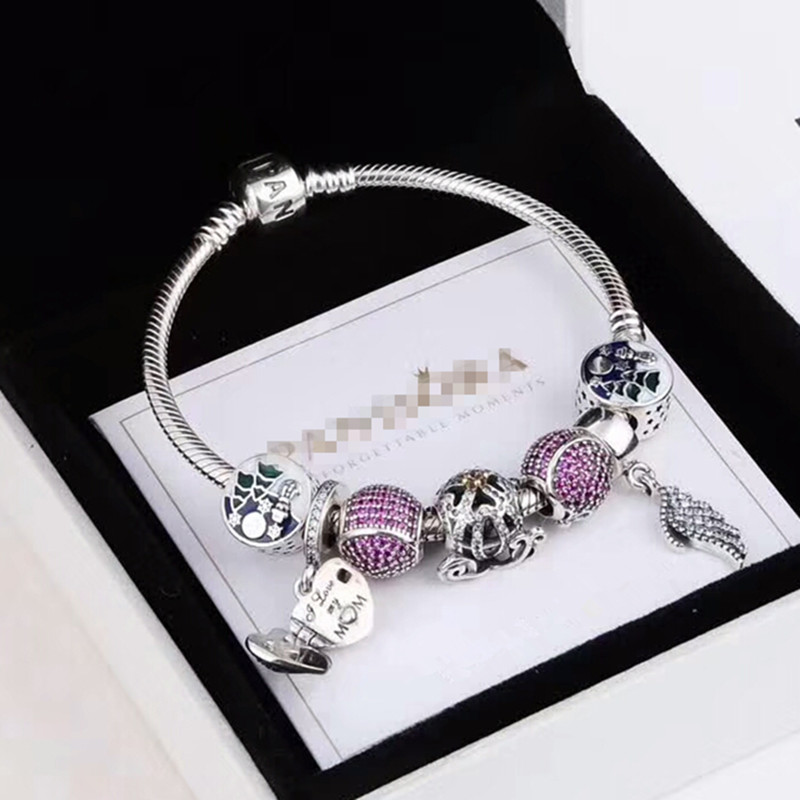 factory hot sale 2018 new style 925 Sterling Silver Beads bracelet hand Jewelry same as Pandorl brand Charms beads Bracelet