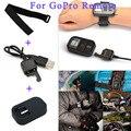 Para gopro correa para la muñeca remoto + funda de silicona + controlador remoto wifi cables de carga para gopro hero 4/3 +/3/sesión de accesorios