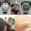 Novelty Men's Casual Cool Butane Gas Cigarette/Cigar Lighter Refillable Quartz Wrist Watch