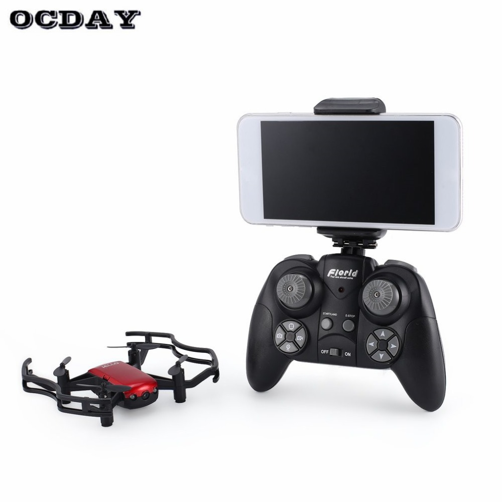 F21w Mini Pocket Fpv Rc Quadcopter Drone Met 0.3mp Wifi Camera Real-time Hoogte Houden Headless Modus Een Sleutel Terugkeer