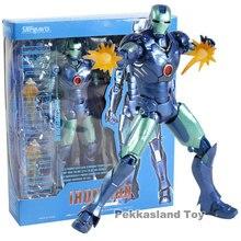ea9baae648e Marvel SHF El Hombre de Hierro MK3 azul Stealth figura de acción Ironman 3  Mark III Tony Stark KO S H figuarts leyendas vengador.