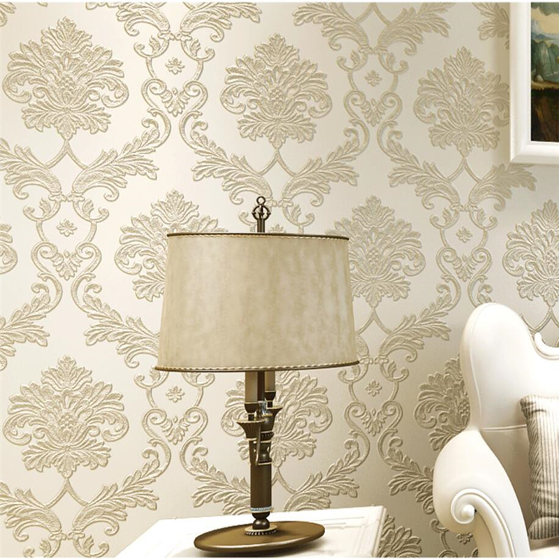 beibehang European nonwovens wallpaper bedroom living room TV background wallpapers 3d relief three-dimensional wallpaper beibehang nonwovens healthy fashion