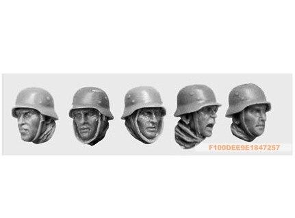 1:35 WWII British troops head (5 Figures)10
