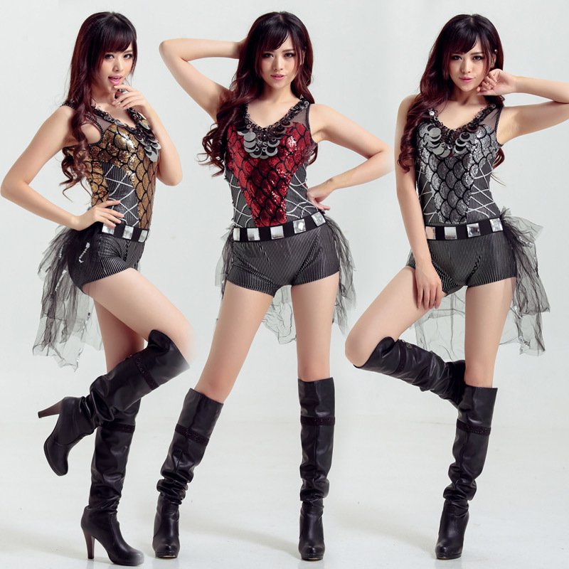 Modern Dance Clothing Fashion Jazz Dance Costume Sequins Pole Dancing Stage DS DJ Singer Stage Dance Costume Hip Hop Clothing