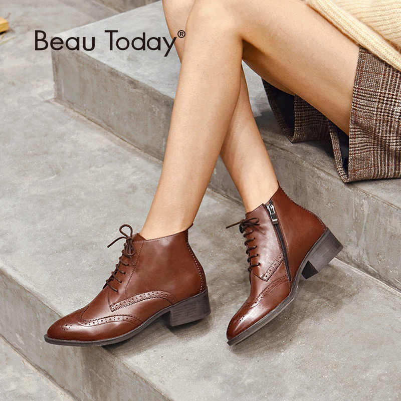 BeauToday Ankle Boots Women Brand