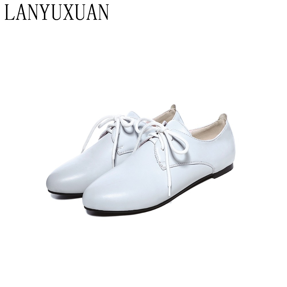 New Big and small 31 52 Size Plus Ladies Women Shoes Flat shoes Casual Sapato Feminino Style Lace up Chaussure Femme 17 1