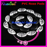 pv55 plastic pvc soft eyeglass nose pads 15mm push in clear color or black glasses - Ophtalmic 55 Colors
