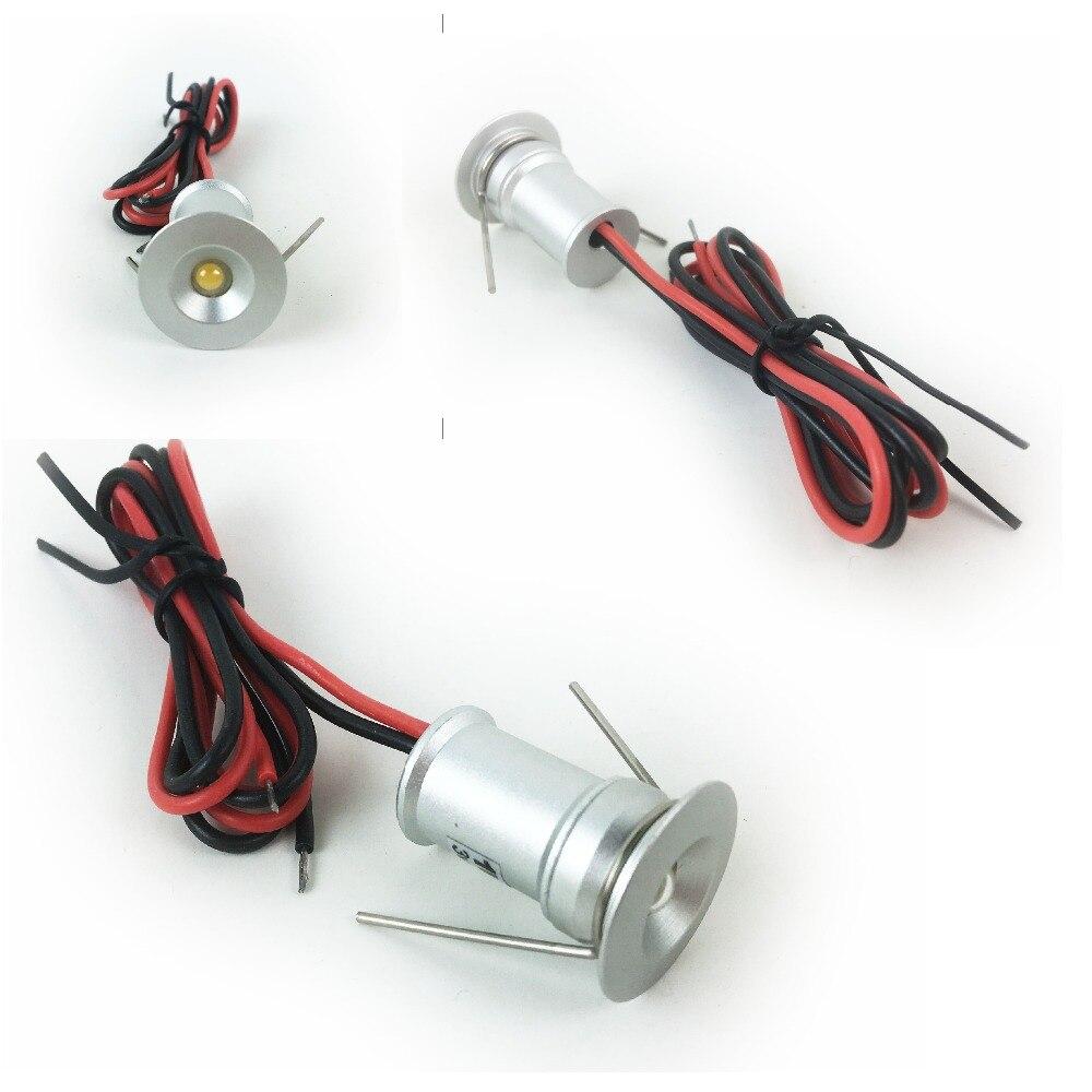1 ワット LED ミニスポットライト 15 ミリメートルカットアウト凹型照明 DC3V/12 V IP65 天井ライト 30D /120D ビーム角ドロップシッピング