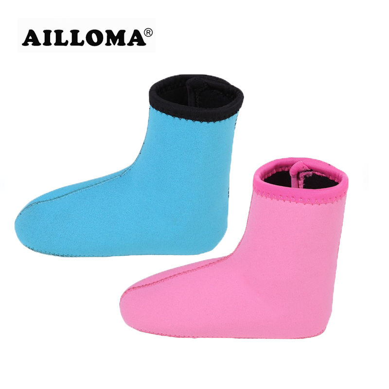 AILLOMA 3mm Neoprene Kids Diving Socks Keep Warm Swimming Shoes Beach Boots Prevent Scratches Diving Equipment Non-slip Socks
