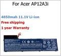 4850 mah 11.1 V bateria do portátil para ACER AP12A3i AP12A3i AP12A4i 3ICP7 / 67 / 90 KT.00303.002 BT.00304.011 para Aspire M3 M5