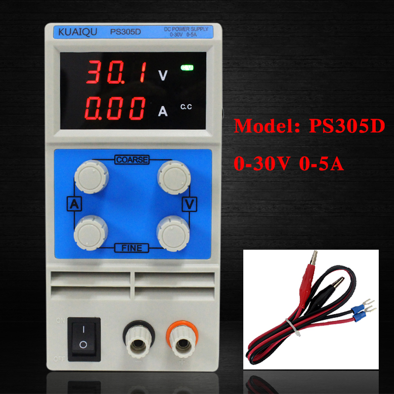 KUAIQU mini DC Power Supply,Switching Power Supply Display Digits Variable Adjustable 0-30V0-5A PS305D (1)