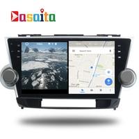 Car Android 7 1 GPS Navi For Toyota Highlander 2009 2012 Autoradio Navigation Head Unit Multimedia