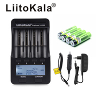 NEW LiitoKala lii 500 3.7V 18650 26650 charger+ 4pcs 3.7V 18650 3400mAh INR18650B Rechargeable Battery For Flashlight batteries