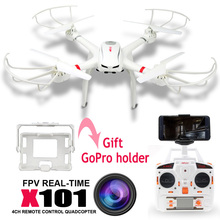 New Real Drones 2.4g 6-axis Mjx X101 Rc Helicopter Quadcopter Drone Professional Uav Add 2pcs Battery As Gift & No Camera