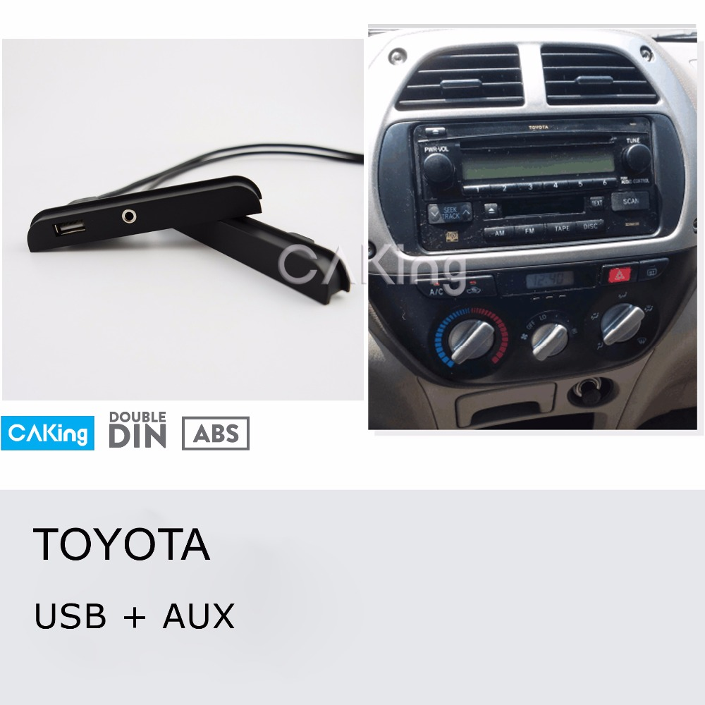 Toyota Celica 2000-2005 Car Stereo Front USB /& AUX Double Din Fascia Panel