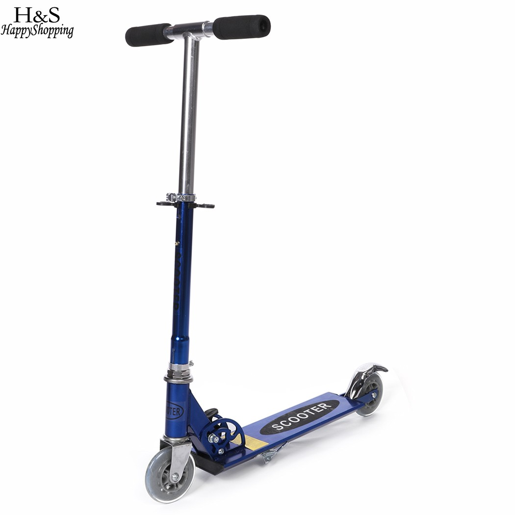 Ancheer Foldable Kick Scooters Portable Adjustable Handle Childrens Scooter Foot Scooter ...