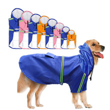 Adjustable Dog Raincoat Waterproof Pet Rain Jacket Poncho with Strip Reflective Perfect for Small Medium Large Dogs