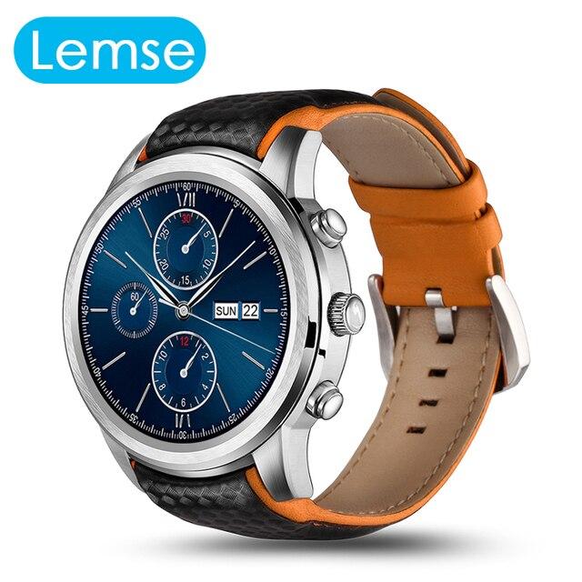 Lemse nueva mtk6580 lem5 smart watch os android 5.1 1.3g Quad Core Precisa Monitor de Ritmo Cardíaco Reloj Para Android IOS teléfono