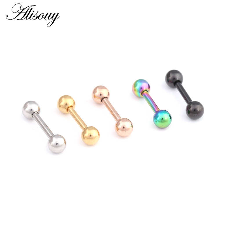 Alisouy, 2 шт., серьги из нержавеющей стали, пирсинг спираль, штанга для женщин и мужчин, серьги-гвоздики, пирсинг для губ, ювелирные изделия для тела