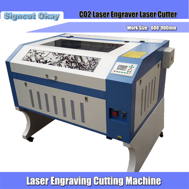 US $2200 0 |80W Laser engraver cutting machine 900*600mm laser cutter for  acrylic plywood leather wood cloth plastic marble pcb pvc-in Wood Routers