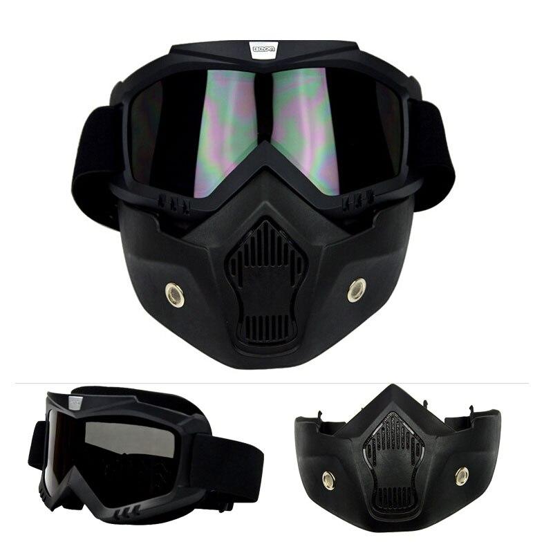 2019 nouveau populaire BEON noir antibuée moto lunettes avec masque amovible, coupe-vent ski lunettes moto chevalier lunettes
