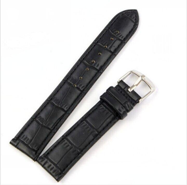Unique Genuine Leather Strap Steel Buckle Wrist Watch Band Soft 18~24mm 24mm assolutamente genuine leather watch band strap