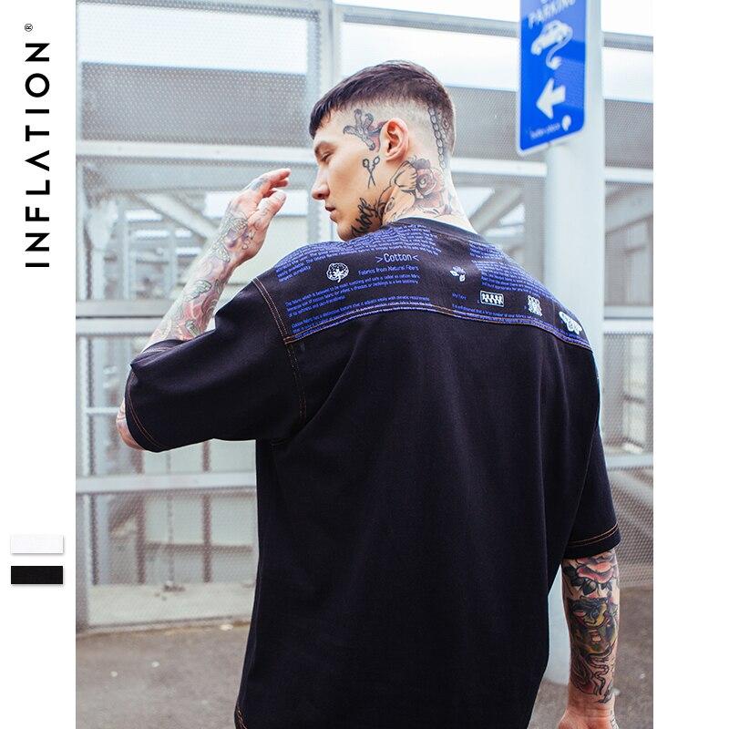 L'INFLATION Épaule Impression Oversize T-shirt Original Designer À Manches Courtes T-shirt Punk Streetwear Mode T-shirt 8170 S