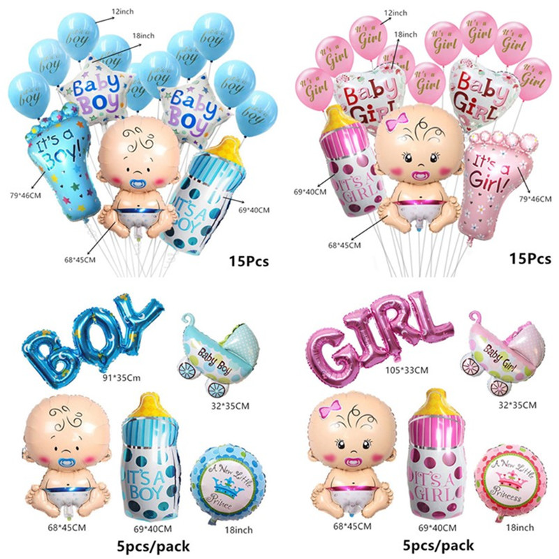 Baby Shower Banner Its A Boy Girl Confetti Balloon Baby Gender Reveal Birthday Party Decorations Kids Gift Party Decor Supplies in Party DIY Decorations from Home Garden