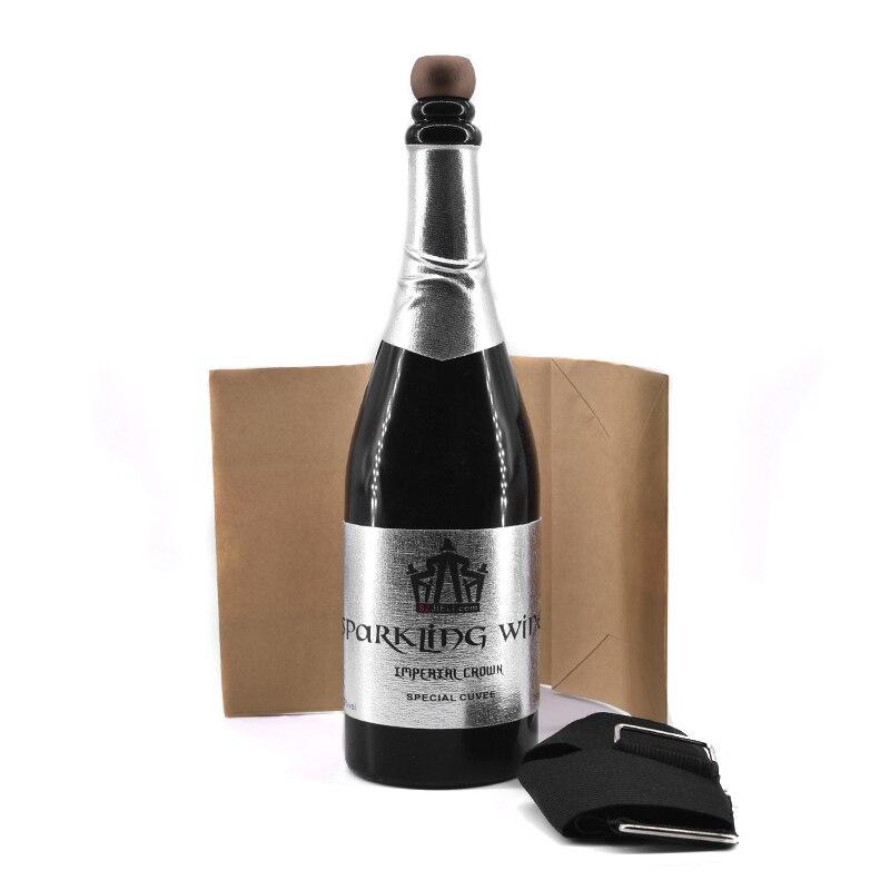 Nouvelle bouteille de Champagne disparue (noir) peut verser des tours de magie liquide magicien scène Illusion Gimmick accessoires comédie mentalisme