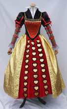 The Red Queen Halloween Cloth Costume For Young Ladies