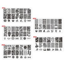 DIY Nail Polish Image Stamping Plate Lace Flower Pattern Template Home Manicure Art Shop Supply Fingers Beauty Decor