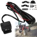 12V ATV Rocker Winch HandleBar Remote Switch Waterproof Replacement Fits Most 300cm Cable Fits Winches Switch Black