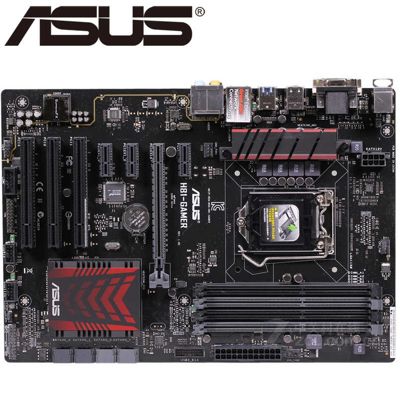 Asus H81-GAMER Desktop Motherboard H81 Socket LGA 1150 i3 i5 i7 DDR3 32G ATX UEFI BIOS Original Used Mainboard Hot Sale