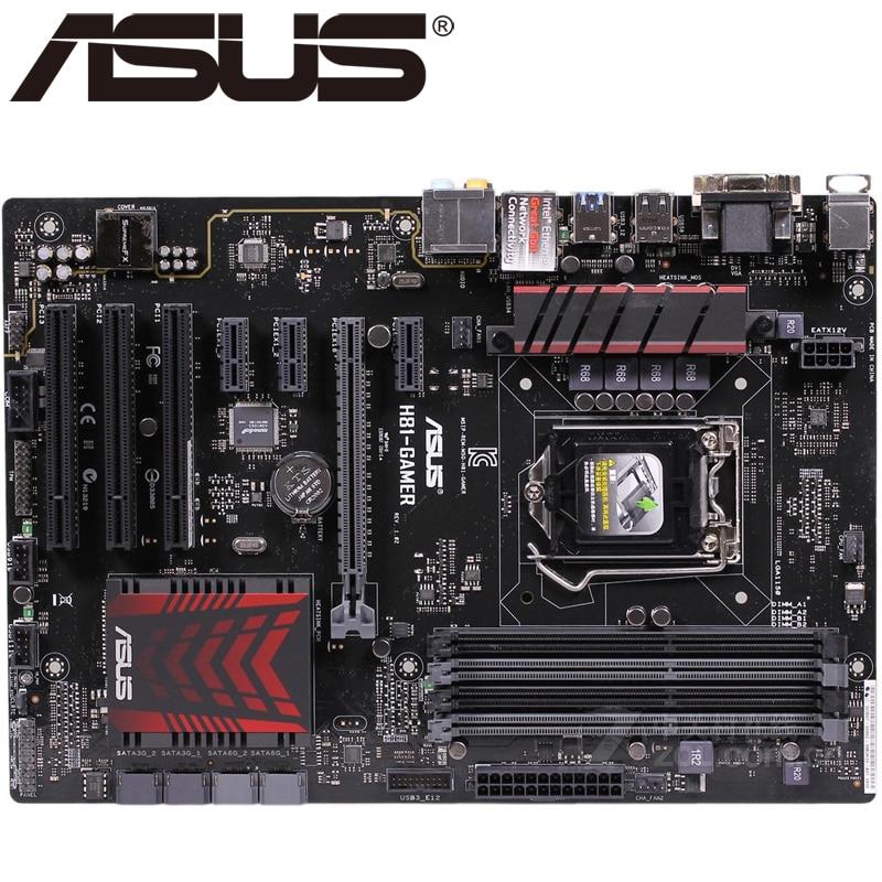 Asus H81-GAMER Desktop Motherboard H81 Socket LGA 1150 i3 i5 i7 DDR3 32G ATX UEFI BIOS Original Used Mainboard Hot Sale