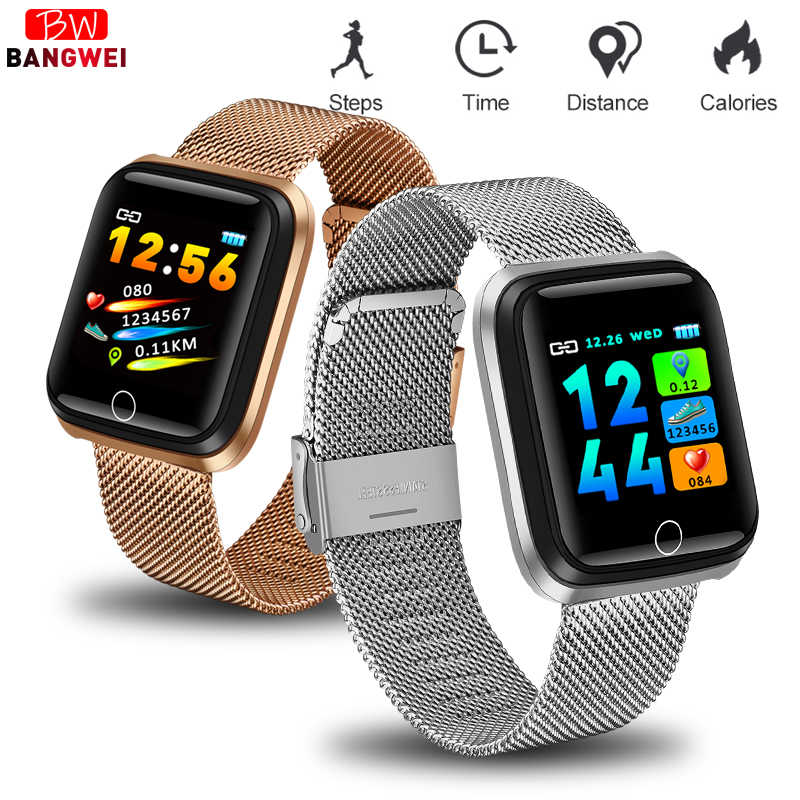 LIGE Smart Bracelet Men Women Heart Rate Monitor Blood Pressure Fitness Tracker Smart watch Sports Wristband Relogio masculino
