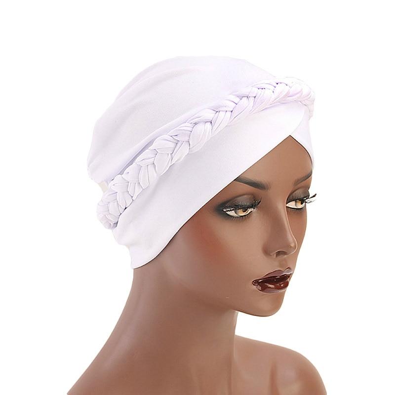 Women Headband Patchwork Braided Bandanas   Headwear   Cap Muslim Turban Hair Accessories Fashion Ladies Bonnet Cap African Style