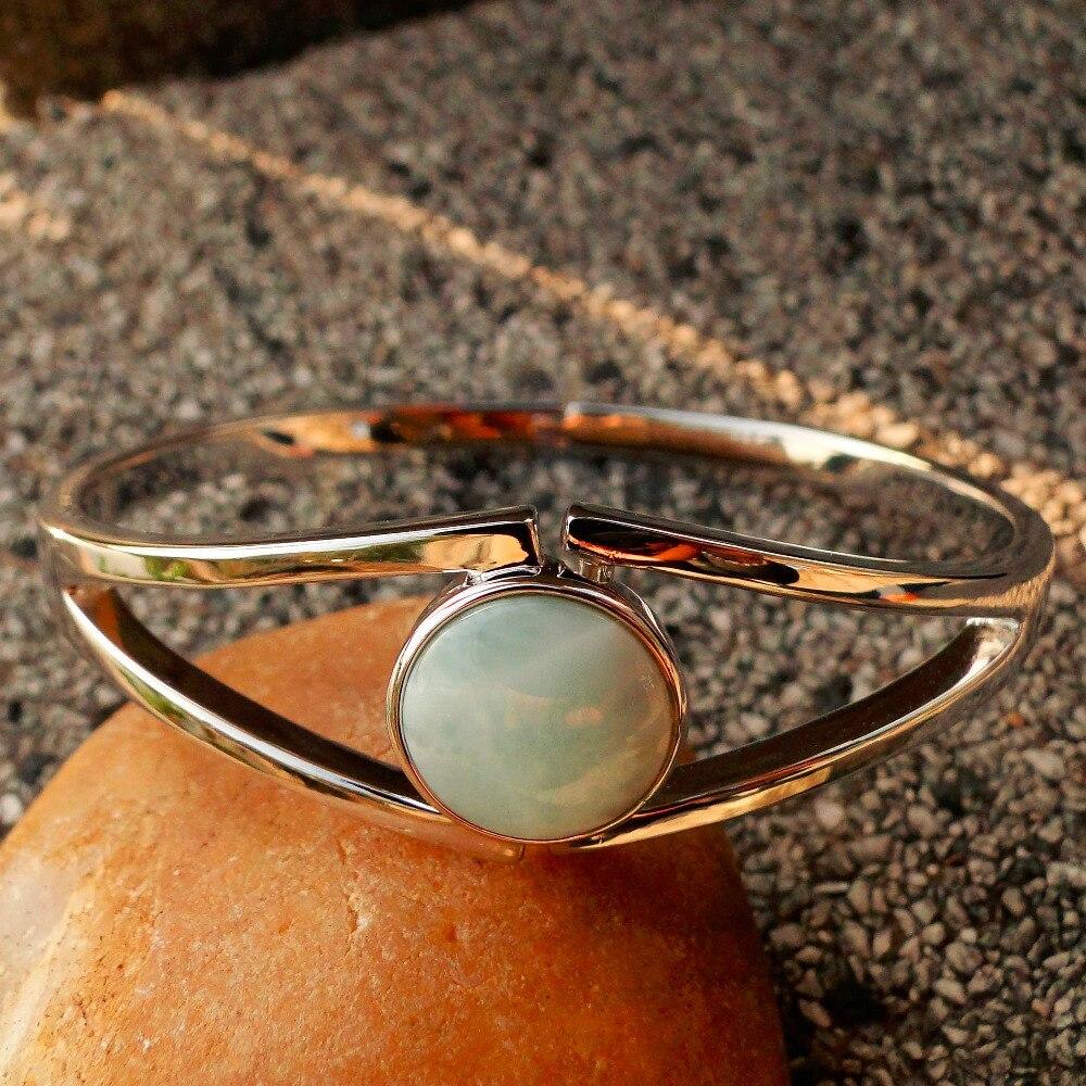 5 pièces nouvelle femme Bracelet bracelets véritable Larimar océan pierre bijoux Bracelet cadeau d'anniversaire pour les filles de mode dame femmes