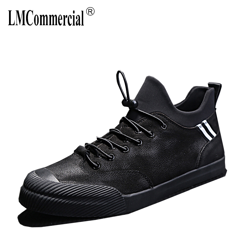 Genuine Leather men's shoes spring autumn summer all-match cowhide breathable sneaker fashion boots men casual shoes Leisure spring autumn summer new men s casual shoes genuine leather all match cowhide breathable sneaker fashion boots men casual shoes