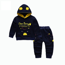 цена на 2019 Spring Autumn Children Boys Girls Fashion Clothing Sets Baby Hoodies Pants 2Pcs/Sets Kids Cartoon Clothes Toddler Tracksuit